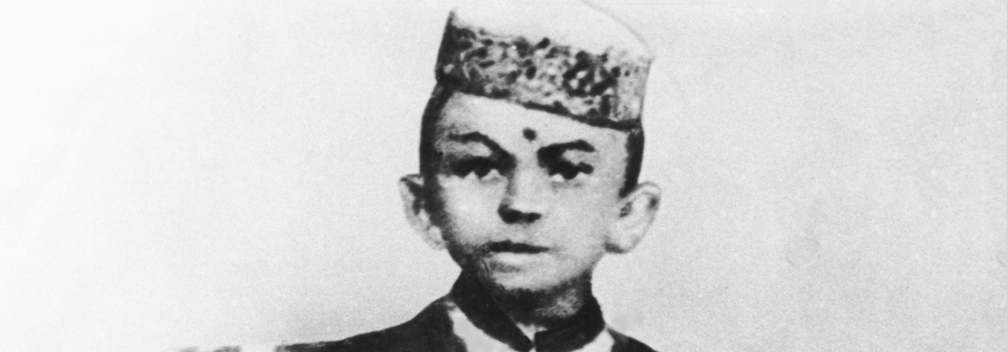 Gandhi at age 7, Rajkot, Gujarat
