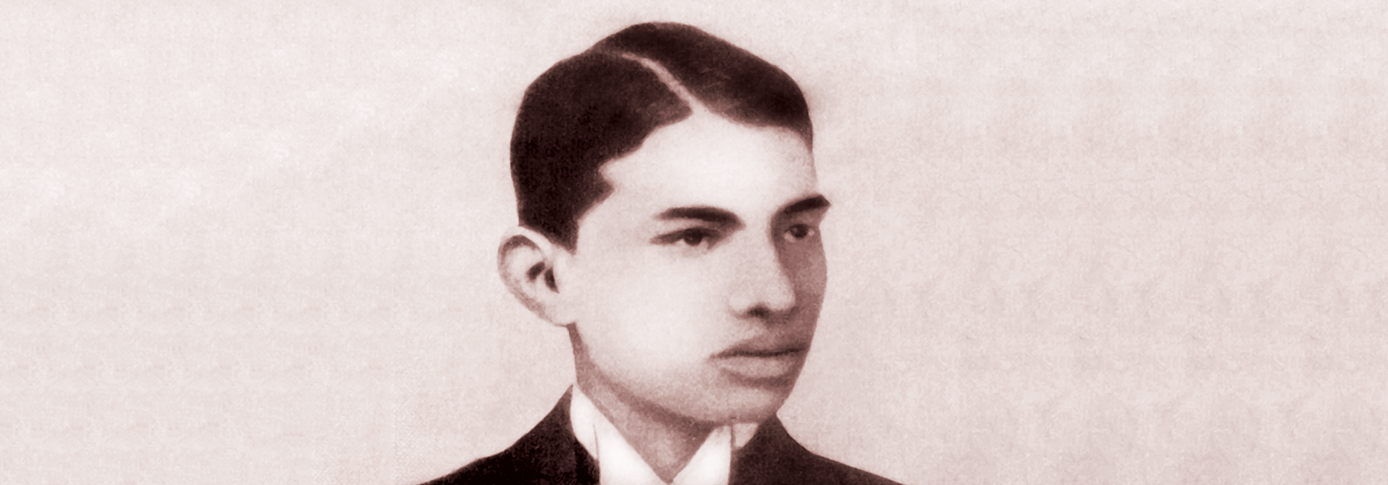 Gandhi at age 22 in UK as a law student