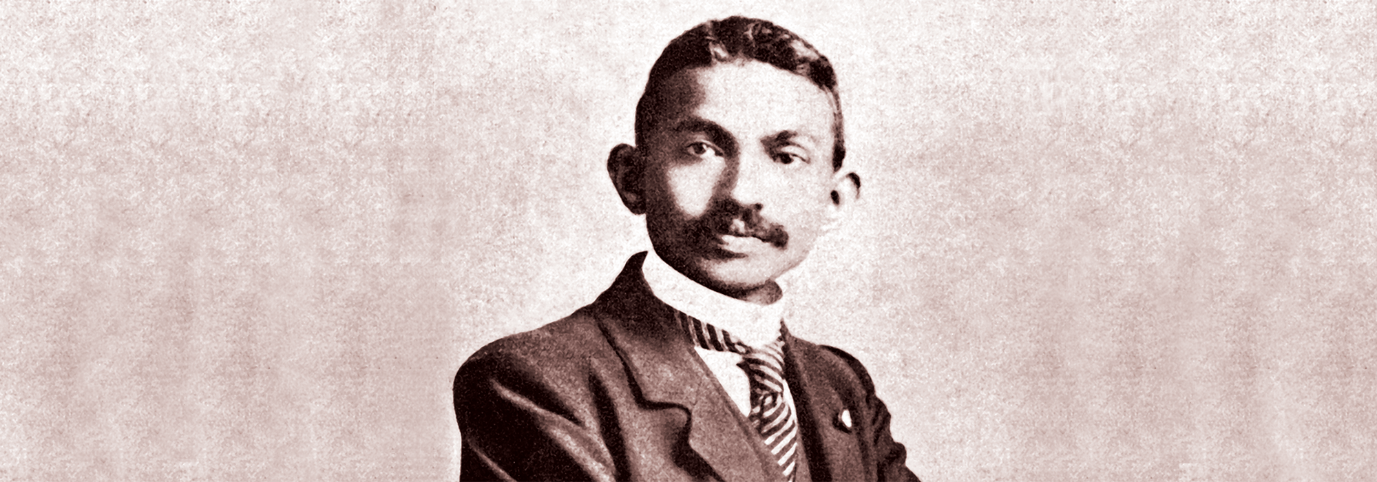 Gandhi at age 35 in South Africa