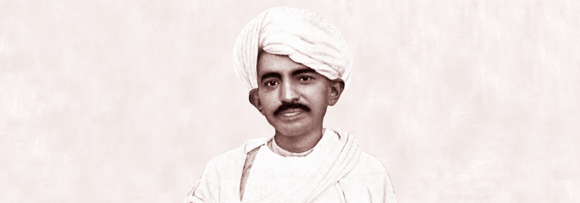 Gandhi at age 46 back in India
