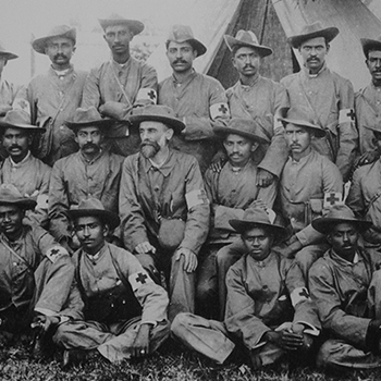 Establishes Indian Ambulance Corp during the Boer War in support of England
