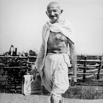 Begins wearing a dhoti which came to be known as a loincloth
